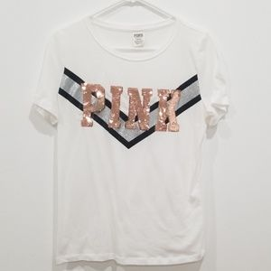 Pink victoria's secret Short sleeve tee size M